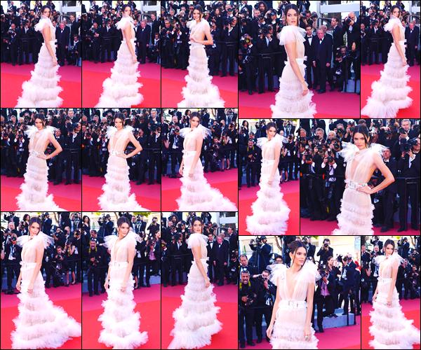 - '-12/05/18-' ◘Kendall Jenner était présente à l'avant première du film Girls of the Sun, au festival de Cannes. C'est dans une robe absolument magnifique que nous retrouvons notre starlette en ce jour, paradant sur le red carpet. Je donne un top. -