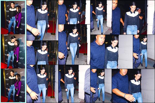 - '-11/10/17-' ◘Kendall Jenner était présente au «What Goes Around Comes Around» ayant lieu à Beverly Hills. Peu après, notre ravissante Kendall a été aperçue alors qu'elle quittait cet événement. Je ne suis pas très fan de son look, c'est un flop ! -