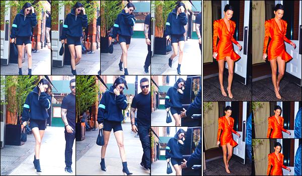 - '-07/06/18-' ◘Kendall N. Jenner a été vue, comme la veille, lorsqu'elle se trouvait dans les rues de New-York. Le soir, notre belle Kendall a été vue dans une robe orange à la sortie de l'hôtel « The Mercer ». Top pour la soirée, flop pour la journée. -