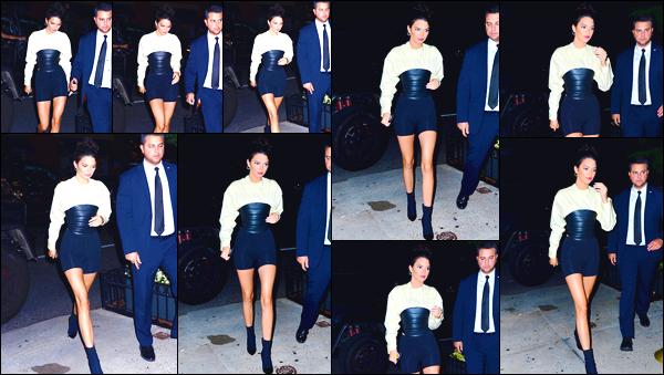 - '-04/06/18-' ◘Kendall Jenner a été vue alors qu'elle venait d'arriver au restaurant : « Cipriani » à Manhattan. C'est dans une superbe robe noir et blanche que nous retrouvons Kendall qui se rendait dans ce restaurant italien. Je lui accorde un top ! -