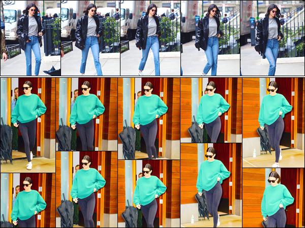 - '-24/10/17-' ◘Kendall Jenner a été vue alors qu'elle venait d'arriver à l'appartement d'un ami dans Manhattan. Un peu plus tard, c'est à la sortie de ce même appartement que nous retrouvons Kendall. J'accorde un bof puis un bon flop pour ces look. -
