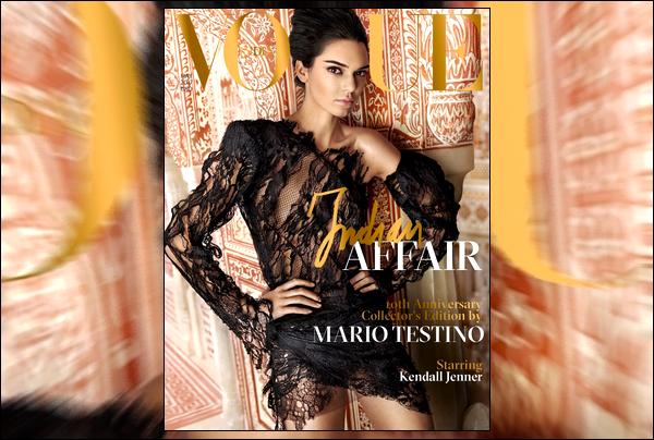 ▬ Découvrez de magnifique clichés de Kendall Jenner pour le célèbre magazineVogue India !