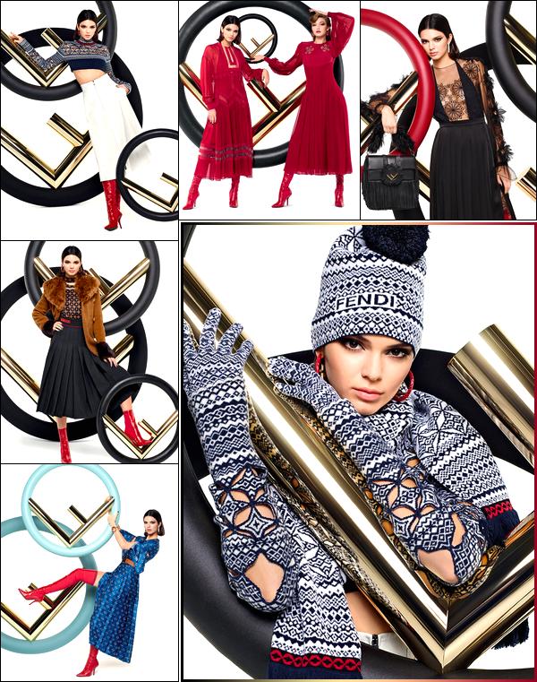 ▬ Découvrez des clichés de Kendall aux côtés de Gigi Hadid pour la célèbre marque Fendi!