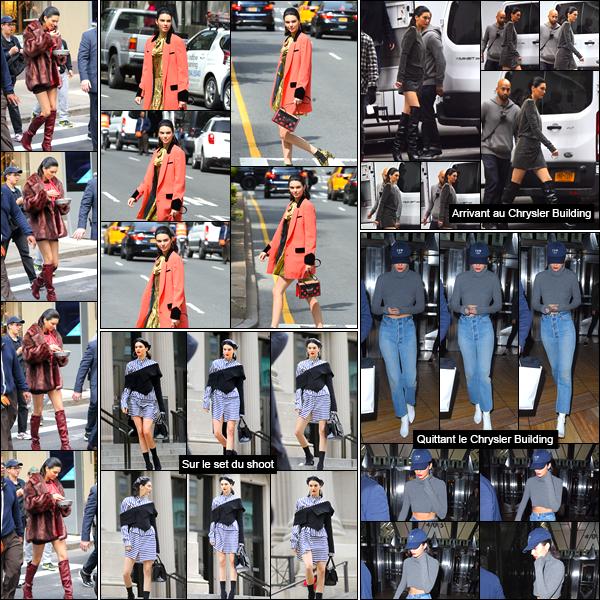 - 04/05/17 : Kendall Jenner a été photographiée alors qu'elle se trouvait être sur le set d'un shoot dans NY. C'est ainsi avec différentes tenues que nous retrouvons notre belle mannequin sur le set de ce shoot ! Je lui accorde cela dit des tops ! -