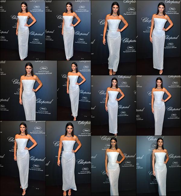 - 19/05/17 : Kendall Jenner était présente sur le tapis rouge de la soirée «Chopard 'Space' Party» à Cannes. C'est ainsi sur le tapis rouge que nous retrouvons notre magnifique Kendall a qui j'accorde pour le coup un énorme top, juste magnifique ! -