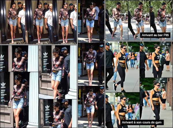 - '-31/07/17-' ◘Kendall a été aperçue lorsqu'elle quittait son hôtel, à Manhattan. J'accorde un joli top à la tenue. Par la suite notre superbe brunette a été vue quittant le magasin Adidas pour se rendre à B&H Photo Video Pro Audio se trouvant à NY ! -