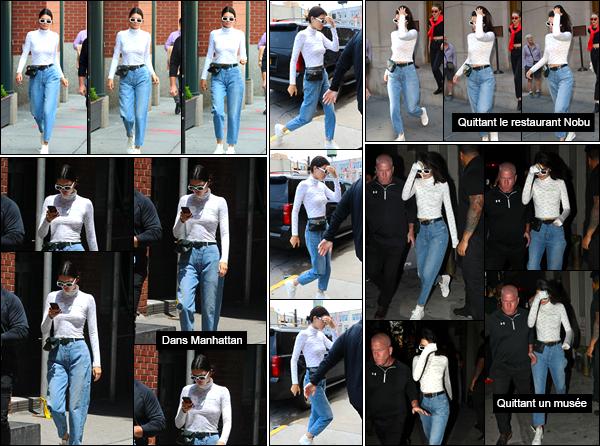 - 31/05/17 : Kendall Jenner a été photographiée quittant l'appartement de Kanye West situé dans Soho, NY. Plus tard, Kendall a également été vue alors qu'elle arrivait à un studio. Journée encore assez productive pour notre belle. Un beau top ! -