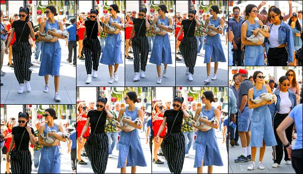 - '-18/06/17-' ◘Kendall Jenner s'est rendue au « Rodeo Drive Even » en compagnie de son amie Kylie Jenner ! C'est avec un joli petit chiot dans les bras que notre superbe mannequin a été photographiée ce jours-là. J'accorde un TOP à la tenue. -