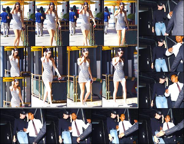 - '-23/08/17-' ◘Par la suite la jolie brunette a été aperçue quittant le bar Honor Bar où elle se trouvait, à BH. Pour finir cette superbe journée, Kendall Jenner a été aperçue quittant The Nice Guy se trouvant à West Hollywood. Je donne un top. -