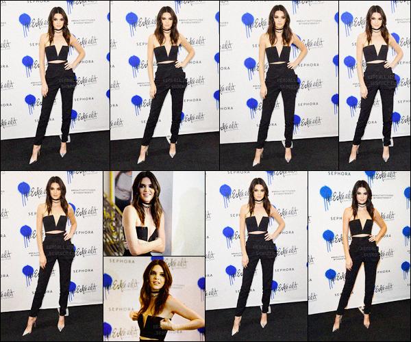 - 20/03/16 - Kendall Jenner était présente au lancement de The Estée Edit by Estée Lauder, dans New York C.La jeune mannequin est apparue dans une tenue totalement noir, pour ne pas changer les bonnes vieilles habitude ! C'est un top de sa part, et vous? -