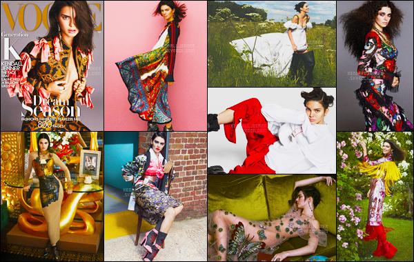- Vogue US •●● Kendall J. en couverture de « Vogue » pour le mois de Septembre 2016.    Découvrez toutes les photos du shooting réalisé pour le magazine Vogue - Notre mannequin reste très sexy mais naturelle également, top ou flop ?! -