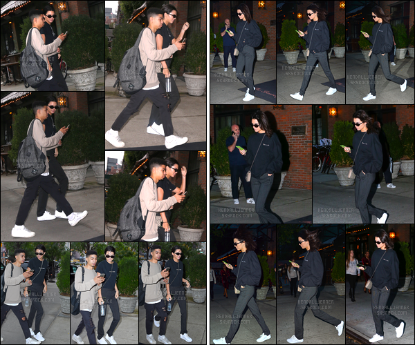 - 28/09/16 : Kendall Jenner a été photographiée alors qu'elle arrivait à son appartement situé à New-York. Un peu plus tard, Kendall a également été vue alors qu'elle quittait l'hôtel dans lequel elle venait de se rendre, un bon flop pour son look. -