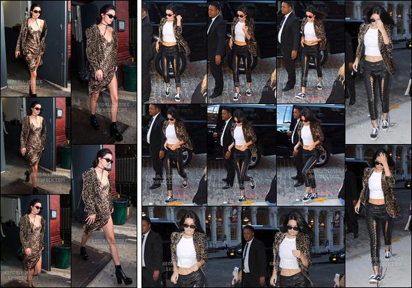 - 15/09/16 : Kendall a été aperçue alors qu'elle quittait le défilé de Marc Jacobs qui avait lieu à New-York. Un peu plus tard, Kendall a également été photographiée en arrivant à l'appartement de Gigi à New-York ! Un bof pour ces looks là ! -
