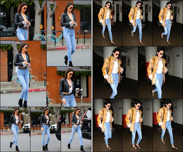- 15/12/16 : Kendall Jenner a été photographiée lorsqu'elle arrivait au caféAlfred Coffee à Beverly Hills. Le soir même la belle brune a été aperçue sortant dans les rues de Los Angeles. Pour les deux tenues de ce jour je décerne des TOP ! -