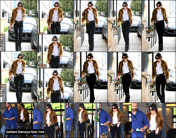 - 12/10/16 : Kendall Jenner a été photographiée lorsqu'elle quittait le restaurantPastaio, à Beverly Hills ! Après la belle a été photographiée lorsqu'elle arrivait au magasin de luxe Barneys New York se trouvant à Beverly Hills. Je donne un bof. -