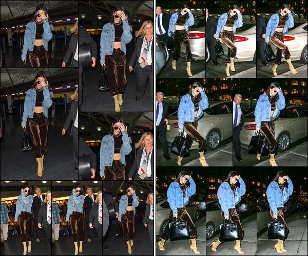 - 12/01/17 : Kendall Jenner a été aperçue arrivant à l'aéroport JFK qui se situe dans la ville de New-York !  Les imperfections visibles sur le visage de Kendall ont fait beaucoup parler les internautes ce jour-là... C'est un petit bof pour la tenue !  -