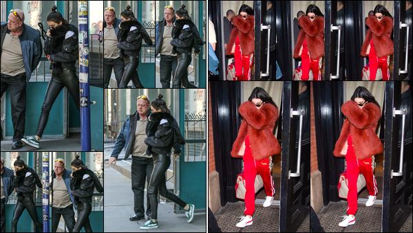 - 17/02/17 : Kendall Jenner a été photographiée quittant le restaurant « Sadelle's », qui était situé à Soho. Un peu plus tard, notre belle mannequin a été aperçue alors qu'elle venait de quitter l'hôtel «The Mercer » dans Manhattan. Bof et flop. -