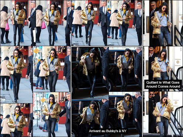- 16/01/17: Pour commencer cette journée Kendall a été photographiée quittant l'appart' de Kanye West Cela ne sera pas une journée de repos pour la jeune mannequin. Côté tenue c'est un top, toutes les pièces s'accordent parfaitement. ! -