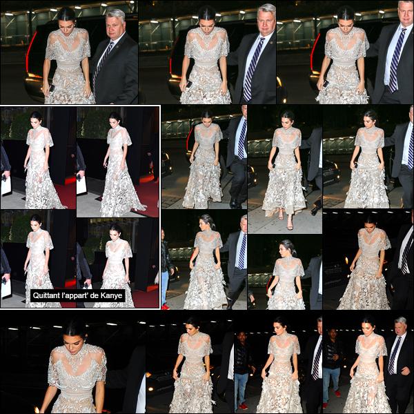 - 16/01/17: Pour terminer cette longue journée, Kendall a été aperçue quittant l'hôtel de Kim Kardashian ! C'est donc dans une magnifique robe que la belle a été photographiée en cette fin de soirée de janvier. J'accorde à Kendall un joli TOP. -