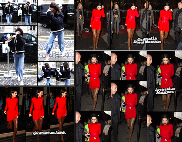 - 04/03/17: Kendall Jenner a été photographiée alors qu'elle était en train de se promener dans Paris, FR. C'est alors qu'elle se cachait que notre Kendall a été photographiée. Tenue assez décontractée, pour ce qu'on voit. Je donne un flop ! -