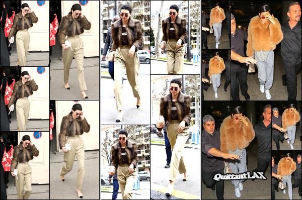 - 07/03/17: Kendall Jenner a été photographiée quittant le défilé de « Chanel » qui avait eu lieu à Paris, FR. Plus tard, notre ravissant miss Jenner a été photographiée alors qu'elle arrivait au défilé «Miu Miu » qui se déroulait également à Paris ! -