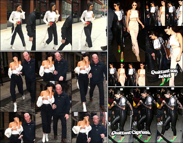 - 30/04/17 : Kendall Jenner a été aperçue alors qu'elle quittait l'appartement de Daniel Chetrit, Manhattan. Plus tard, notre ravissante mannequin a été photographiée alors qu'elle sortait du magasin «Mackage», Manhattan. Je donne un top ! -