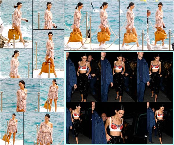 - 23/05/17 : Kendall Jenner a été aperçue alors qu'elle venait de quitter l'Hôtel duCap Eden Roc, Antibes. Plus tard dans la soirée, Kendall a été photographiée alors qu'elle venait d'arriver à la boîte de nuit « Gotha » situé à Cannes. Un bof. -