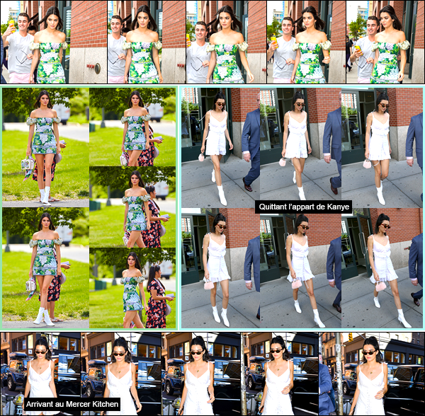 - 03/06/17 : Kendall Jenner a été aperçue alors qu'elle venait de quitter l'appartement de Kanye West, Soho. Plus tard, Kendall a été aperçue arrivant au «Liberty State Park» dansJersey City. Pour cette petite robe verte, j'accorde un grand top ! -