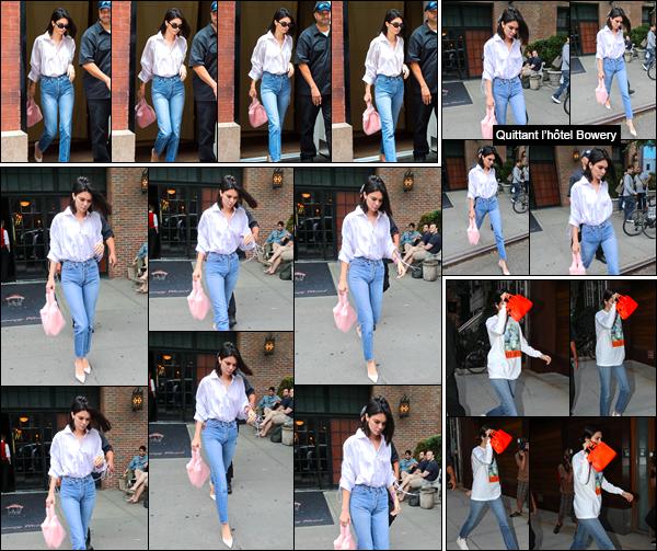 - '-29/07/17-' ◘Kendall Jenner a été photographiée alors qu'elle quittait l'hôtel « The Mercer » dans Manhattan. Un peu plus tard, après être sortit de l'hôtel Bowery, Kendall a été aperçue alors qu'elle arrivait à l'appartement de Daniel Chetrit, un top ! -