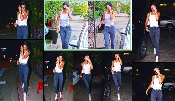 - '-15/08/17-' ◘En début de journée Kendall a été vue par les papz arrivant au célèbre restaurantPace, à LA. Par la suite, en fin de journée notre superbe mannequin a été photographiée quittant le restaurant Pace. Côté tenue j'accorde un top. -