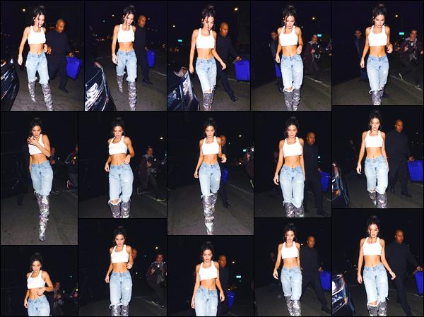 - '-02/11/17-' ◘Kendall Jenner a été vue alors qu'elle quittait le restaurant «Petite Taqueria», West Hollywood. C'est à l'occasion de son anniversaire que nous retrouvons notre superbe mannequin a la sortie du restaurant. Pour son look, un gros top. -