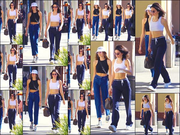 - '-13/12/17-' ◘Kendall Jenner et Kaia Gerber ont toutes les deux été aperçues ensemble dans Beverly Hills, CA. Les deux jeunes mannequins se sont retrouvées pour une petite après-midi shopping. Côté tenue je donne un petit top à notre brunette. -