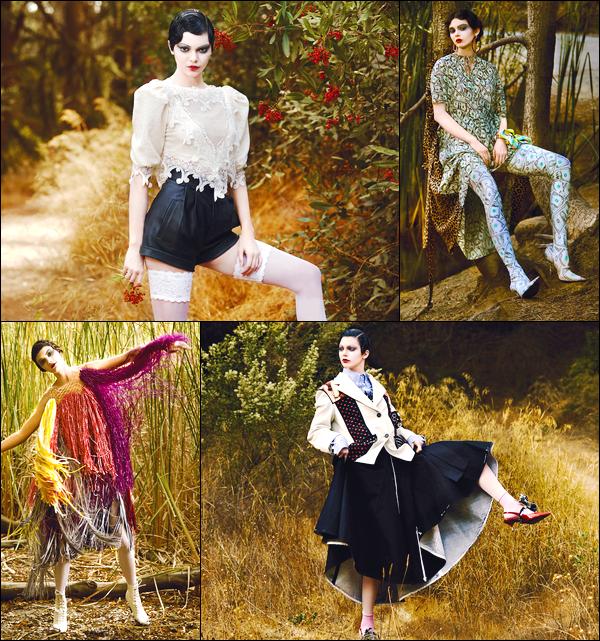▬Découvrez quatre clichés de notre jeune mannequin pour le célèbre magazine V Magazine !