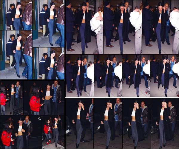 - '-26/01/18-' ◘Kendall Jenner a été photographiée quittant l'appartement de Kanye West situé dans Soho, NY. Plus tard, notre mannequin a été vue quittant le «Cadillac House », puis lorsqu'elle arrivait au restaurant Italien « Cipriani », Manhattan. -
