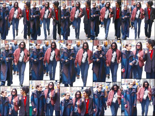 - '-28/01/18-' ◘Kendall Jenner a été vue quittant la boutique «What Goes Around Comes Around », Soho (NY). C'est en compagnie de Bella que nous retrouvons notre ravissante mannequin avec son amie. Pour son look, je suis mitigée, c'est un bof. -