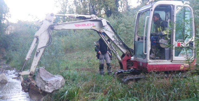 Samedi 17 Octobre 2015 - Création de caches sur la Brévenne - partie amont