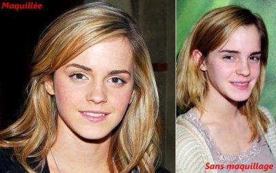 Emma Watson , vous preferez  avec make-up ou sans