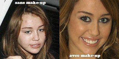 Miley Cyrus , vous la preferez avec ou sans make-up