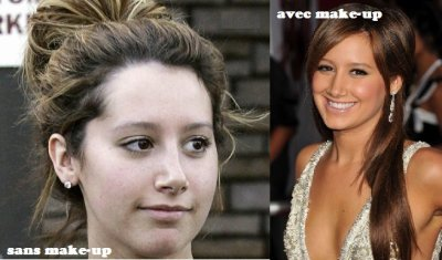 Ashley Tisdale ,  vous la preferez avec ou sans make-up