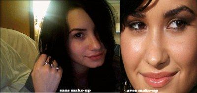 Demi Lovato , vous la preferez avec ou sans make-up