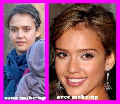 Jessica alba , vous la prefere avec ou sans make-up