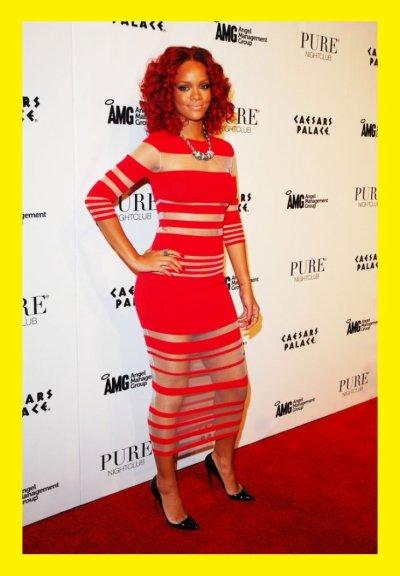 Rihanna : en rouge , TOP OU FLOP