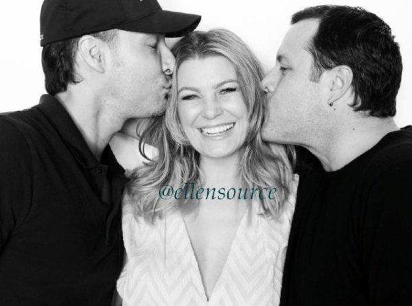 """_ Nous avons appris il y a quelque jours qu'Ellen venait de faire un photoshoot grâce au site EllenSource. Vous pouvez donc admirer une photo """" behind the scene """" avec notre Ellen toute souriante _"""