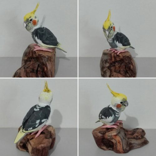 Statuette miniature, 100% fait main, modèle unique - LA CALOPSITE