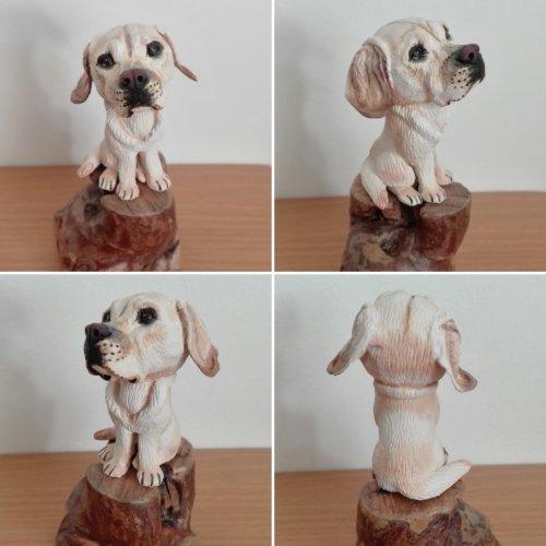 Statuette miniature, 100% fait main, modèle unique - LABRADOR FEMELLE