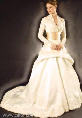 Robe de mariee avec gilet dentelle
