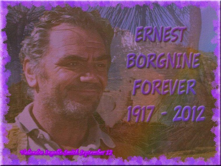 Pour recommencer mes créas sur ce blog, un petit hommage à Ernest Borgnine…