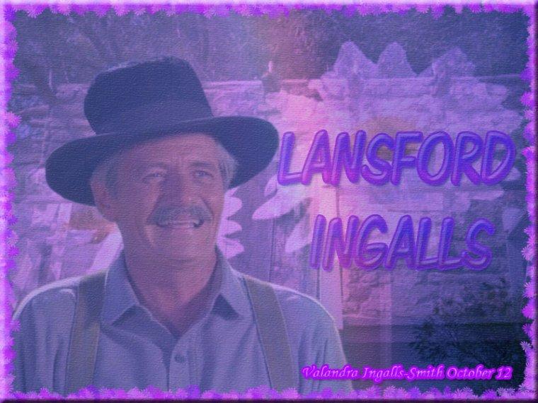 Comme je l'avais promis il y a quelques mois, j'ai fait une créa sur Lansford Ingalls…