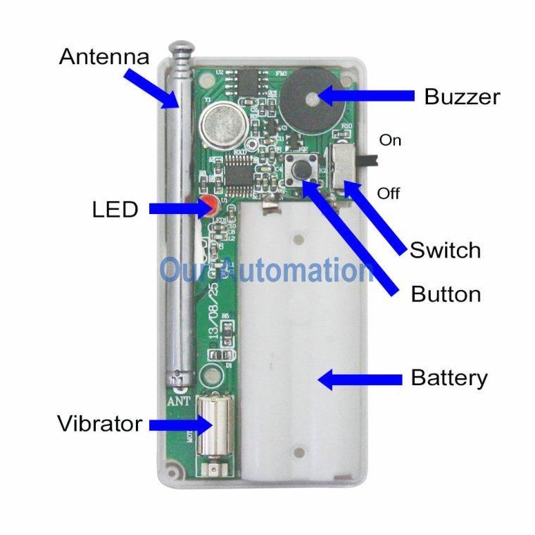 Long Range Vibrating and Beep Alerts Kit