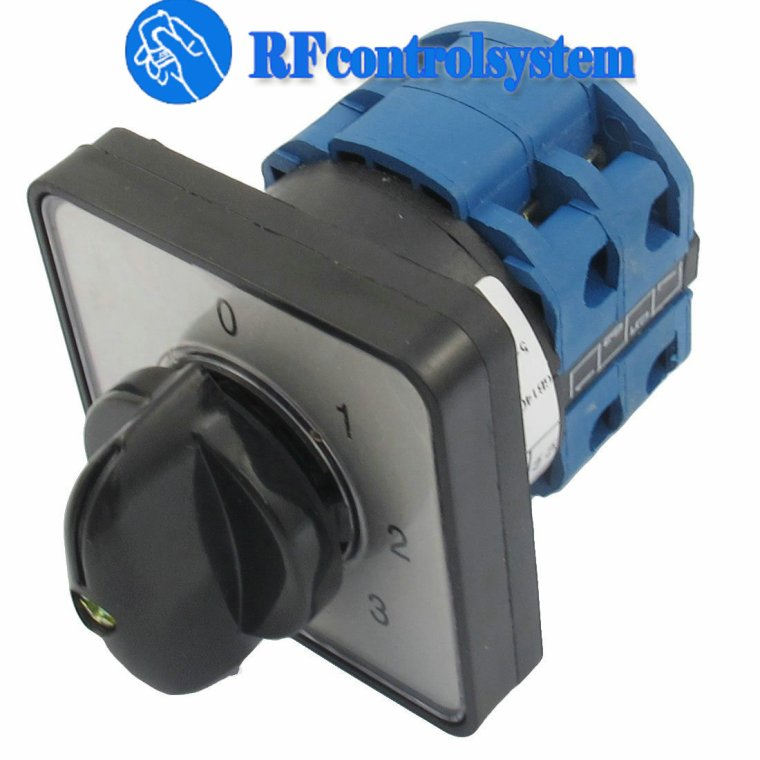 How to Change keyed Rotary Switch to Remote Control Switch?